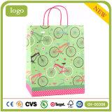 Подарка искусствоа магазина игрушки велосипеда мешок зеленого бумажный