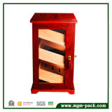 Governo di legno del sigaro del piede diritto con il portello di vetro