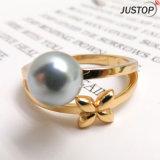 Оптовая торговля позолоченный кольцо с Жемчужиной оболочки для женщин