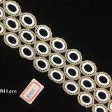 6cmの女の子の服または衣服Hme864のための二重線の円パターンレースのトリム