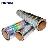 35mic BOPP Film holographique auto-adhésif avec 120gsm chemise de libération