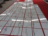 Polidos Calacatta lajes de mármore branco azulejos e pisos em mármore fachada-&Bancada