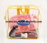 Le PVC clair de promotion portent le sac cosmétique transparent de sac à dos de cas