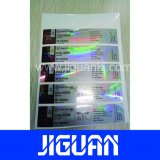 Escritura de la etiqueta auta-adhesivo del frasco del holograma de la seguridad de la alta calidad superior de la certificación