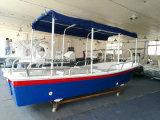 China Liya 19 pés do passageiro de fibra de vidro balcão de excursões de barco Boat