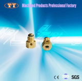 Ajustage de précision de tube rapide en laiton de usinage d'ajustage de précision de pipe de connecteur de commande numérique par ordinateur
