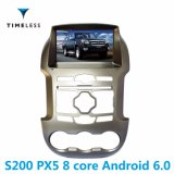 Timelesslong 인조 인간 6.0 Carplay (TID-W245)에서를 위한 건축되는 S200 플래트홈 2DIN 자동차 라디오 DVD 플레이어 Ford Ranger 2012-2014년/