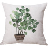 Il coperchio domestico creativo dell'ammortizzatore della federa di tela di stampa del cotone della pianta ha personalizzato