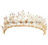 Crystal Pearl свадебные Короны Headbands Tiara Rhinestone волос украшения устраивающих аксессуары для волос золото наконечник Hairbands (EH01)