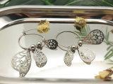 Cerchio degli orecchini della gocciolina dei Teardrops degli accessori delle donne in argento sterlina 925
