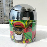 Aschenbecher Weed-Edelstahlbob-Marley Rasta Ragga Jamaika