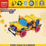 A alta qualidade quente da venda caçoa o carro educacional plástico do brinquedo de 3 enigmas para miúdos