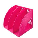 Novo Design 3 colunas de suporte da revista de plástico colorido