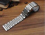 Fabriek Opgeslagen Roestvrij staal 7 Riem 20 22 van de Band van het Horloge van Parels Opgepoetst/de Geborstelde 24mm Klassieke Levering voor doorverkoop van de Manchet Men&Women
