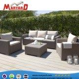 屋外の庭の柳細工の藤のソファーの総合的な藤の枝編み細工品の家具