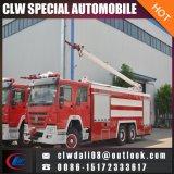 Vrachtwagen van de Strijd van de Brand van het Schuim van het Water van China HOWO 6*4 16mt de Hoge Straal