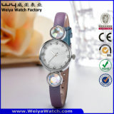 De Polshorloges van de Manier van de Dames van het Horloge van het Kwarts van het Embleem van de douane (wy-077C)