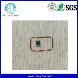エポキシ樹脂NFC F08 Ntag213 Ntag215透過硬貨RFIDの札