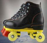 高いブートの二重列の4-Wheelローラースケートの靴