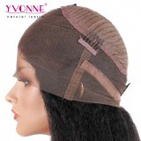 Yvonne 머리 아기 머리 비꼬인 똑바른 색깔 1b를 가진 스위스 레이스 정면 가발 사람의 모발 가발