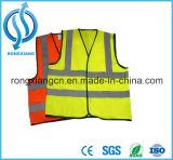 Vêtement fluorescent de gilet de sûreté de garantie r3fléchissante rouge de DEL