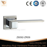 Poignée du levier de porte en alliage de zinc sur la rosette (Z6088-ZR03)