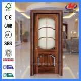 Los 5 paneles modelan la puerta de cristal de madera del grano de la montaña