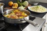 Batterie de cuisine Flypan réglé d'acier inoxydable et bac