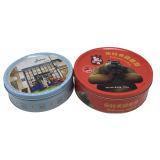 A caixa de Configuração redonda Caixa de estanho Bistuit Gofragem Imprimir