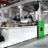 プラスチックフィルムまたは袋のための二段式リサイクルおよびペレタイジングを施すシステム