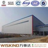 Atelier/entrepôt en acier de bâti de construction avec la structure métallique