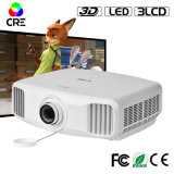 휴대용 지능적인 3300 루멘 Proyector LED 가득 차있는 HD 3D Beamer
