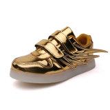 22 anos luz LED de alta qualidade na fábrica de calçado para crianças, sapatos de LED populares Kids