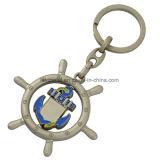 Metallo su ordinazione Keychain di figura rotonda 3D della fabbrica