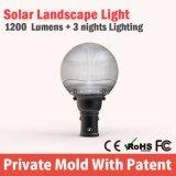 IP65 лужайка все в одном светильнике напольном 12W света ландшафта сада солнечном