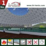 Grande tente de dôme géodésique avec le dessus clair et les côtés clairs pour des sports