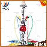 Elektronischer Zigarette Nargile Edelstahl für Loung Stab-rote Glasrohr Shisha Huka