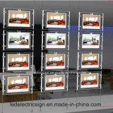 フロア・ディスプレイのWindowsのためのアクリルの水晶細いLEDのライトボックスをハングさせる天井