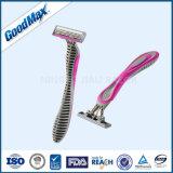 2017新しい中国の三重の刃の使い捨て可能な剃るかみそり