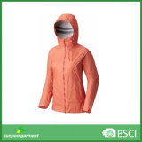 Chuva leve exterior Hard Shell Jacket para Mulheres