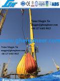 Marine convés do navio grua hidráulica elétrica montado na flange de guindastes offshore