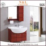 علبيّة خشبيّة غرفة حمّام أثاث لازم مع مرآة وجدار وابل خزانة