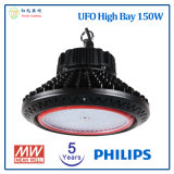 5 Jahre Garantie 150W UFO-LED hohe Bucht-Licht-mit Chip Philips-LED und Meanwell LED Fahrer