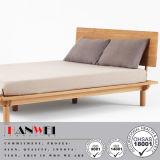 現代カシの居間の純木のベッドフレーム