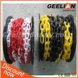 Chaîne fluorescente colorée à chaînes en plastique de HDPE de sécurité routière