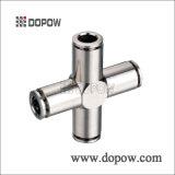 真鍮の付属品の圧縮の適切な男性のティーの適切な銅の付属品