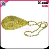 Médailles Tech Supplier Wholesale Custom Gold Sticker Epoxy Metal Keychain