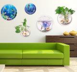 アクリルの壁掛けの魚飼育用の水槽の壁に取り付けられた魚ボール