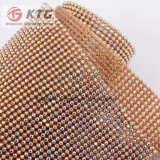 Hot Fix Triming 45X120 Aluminium strass Mesh Ss8 Crystal Silver Base Mesh pour vêtements Robe chaussures
