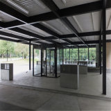 Atelier en acier de station-service de construction d'économie de coûts à vendre